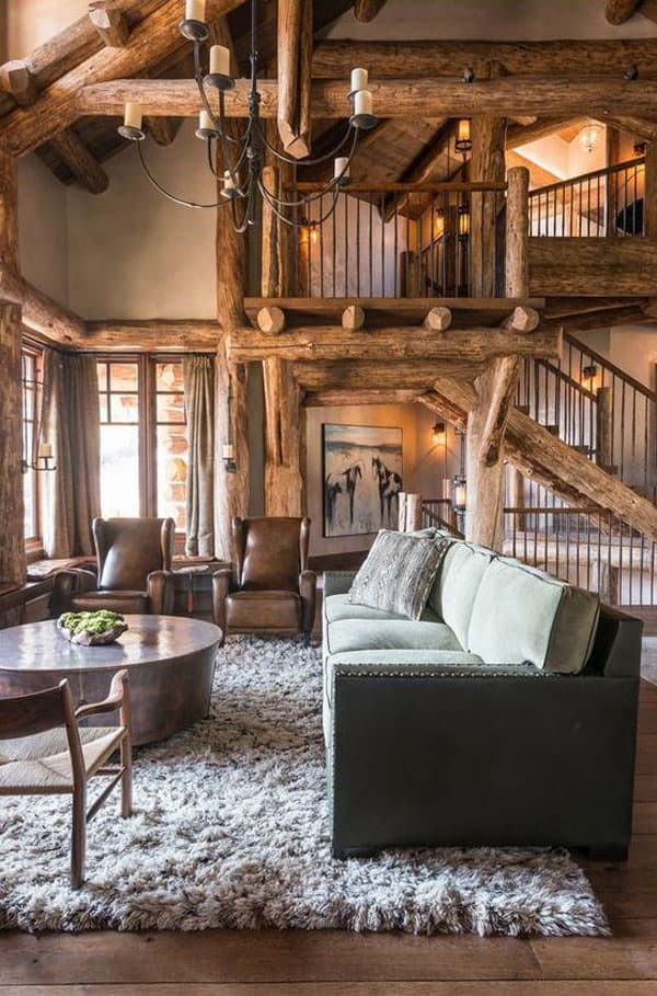 40 Rustic Living Rooms | The Evergreen Colorado Experience